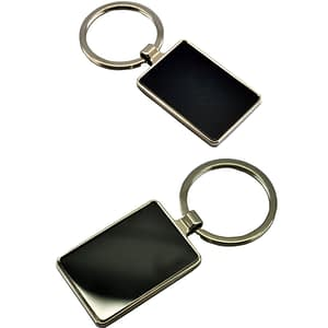 Double Sided Rectangular Keychain