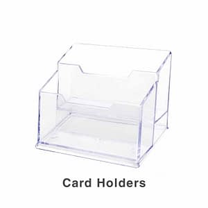 Acrylic Card Holders