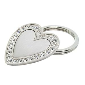 Heart Shape Metal Keychain